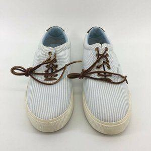 Polo Ralph Lauren Mens Vaughn Sneakers Blue Stripe